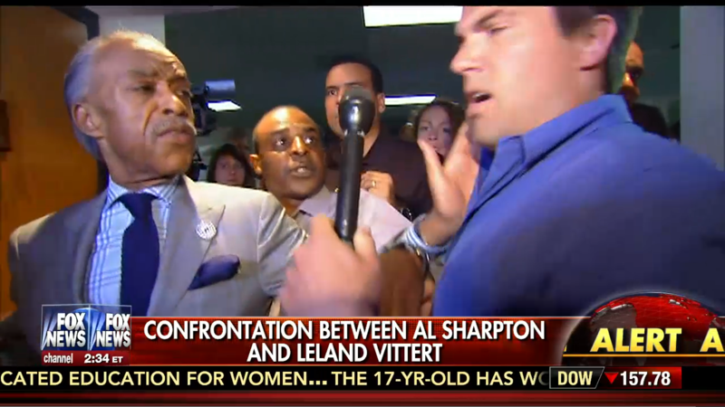 Rawlings-Blake uses Al Sharpton as body armor against Leland Vittert (VIDEO)