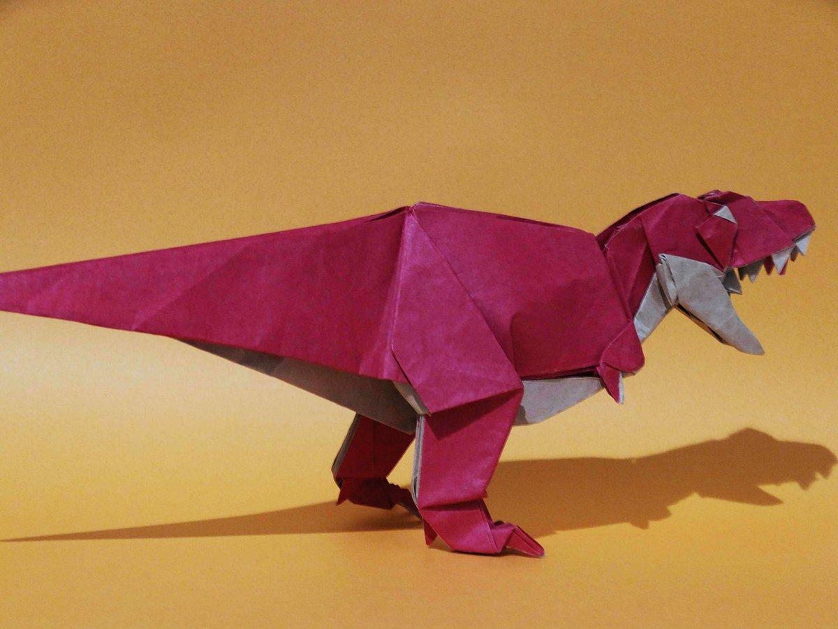 恐竜 ティラノサウルス 折り紙