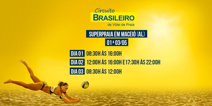 E ai, #TorcidaBrasil?!  Agora é a vez do SuperPraia em Maceió! Fique ligado nos horários!