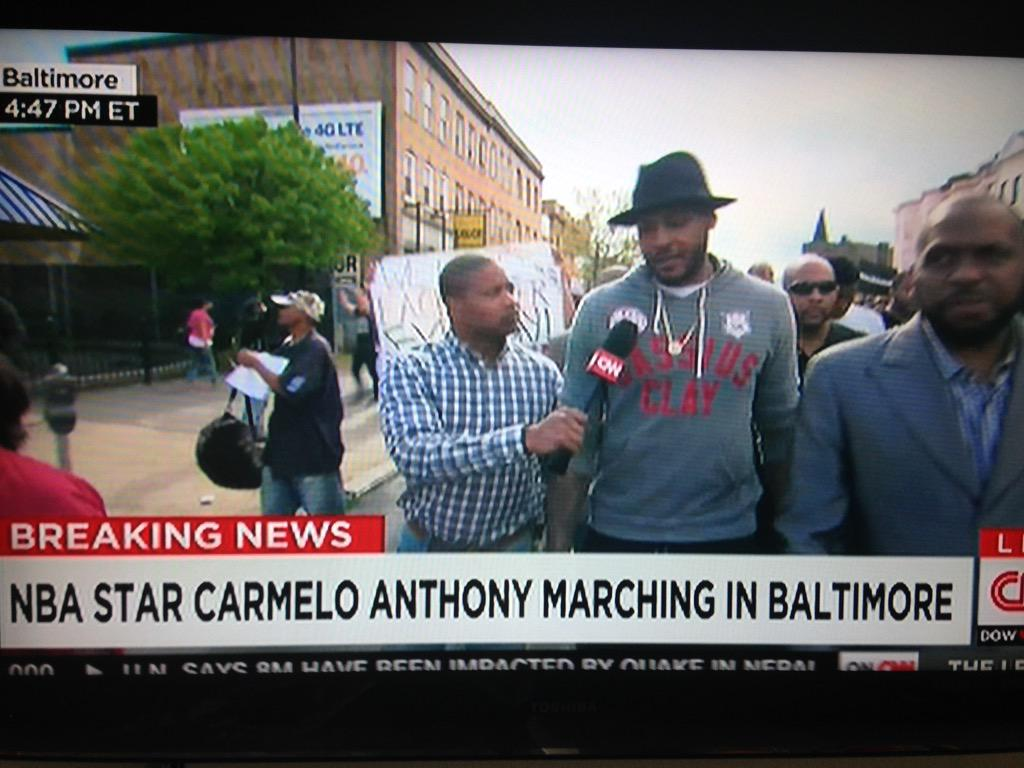 Carmelo Anthony Pleads With Baltimore Protesters In Moving ...