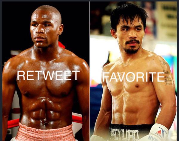 Who do you have winning the #MayweatherPacquiao fight?! http://t.co/fId05V7yvk