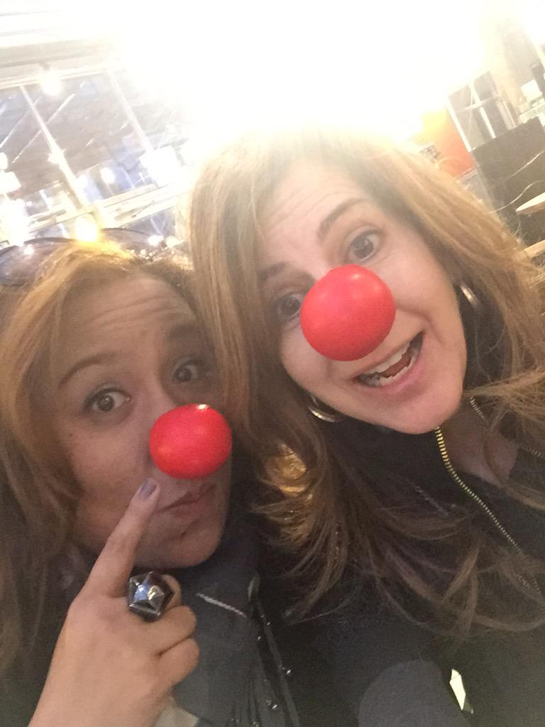Yes we are in public wearing our #RedNoseClub #RedNose with pride @Walgreens w @mjtam http://t.co/DQDRh1ree4