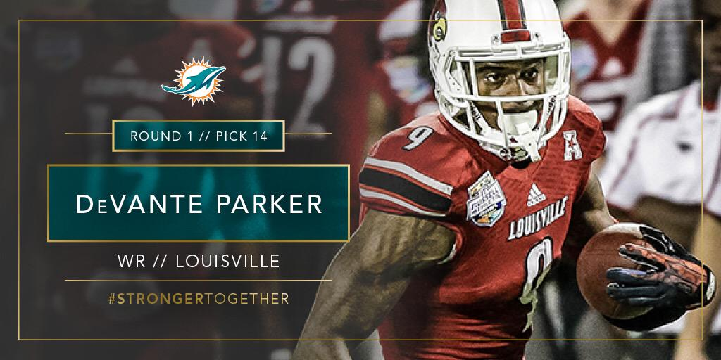 Welcome to Miami, DeVante Parker!!  #StrongerTogether http://t.co/3XtlfOmQul
