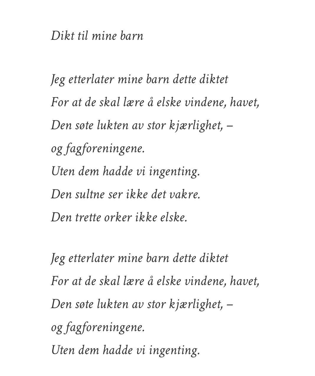 foreign affairs flørte dikt