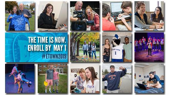 It's Decision Day! The day high school seniors choose their college! Will you be part of #etown2019? http://t.co/9TnFqveODN