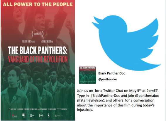 Thumbnail for The #BlackPanthersDoc Tweetchat by @PanthersDoc & @StanleyNelson1 with Ambassadors