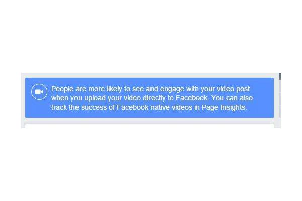 #Facebook Nudges Page Owners To Post Native Video, Not YouTube | http://t.co/XlMWg2UnZF http://t.co/Rm4V7zsRZz