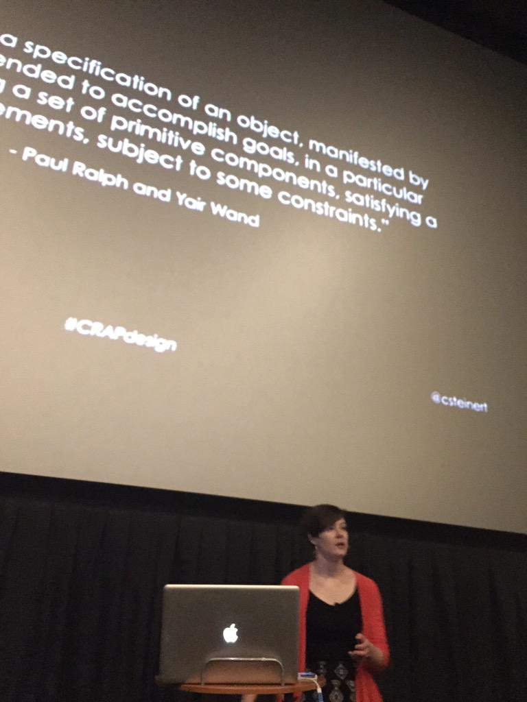 Pumped to hear about C.R.A.P. by @csteinert #CRAPdesign 💩 http://t.co/ILFhnV7l1T