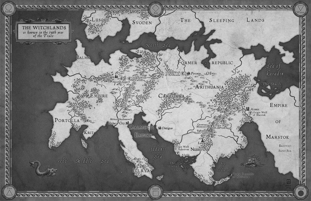 Image result for the witchlands map