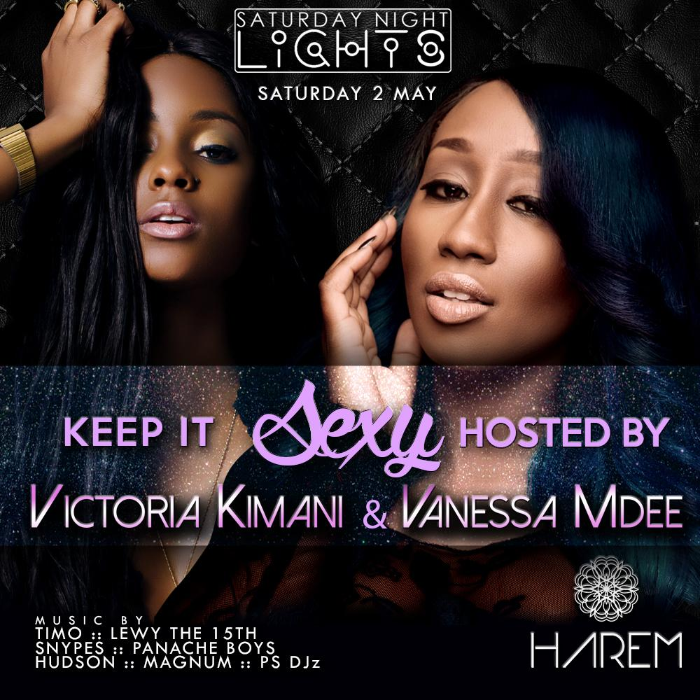 #SNLatHarem Keeps It Sexy with Victoria Kimani and Vanessa Mdee @Harem_sa tomorrow night #anadaLAXmediaProduction http://t.co/myGSKZI0p8