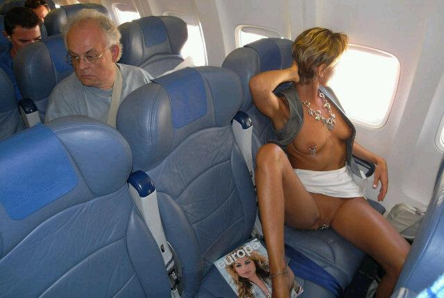 Nude girls on the plane indeed