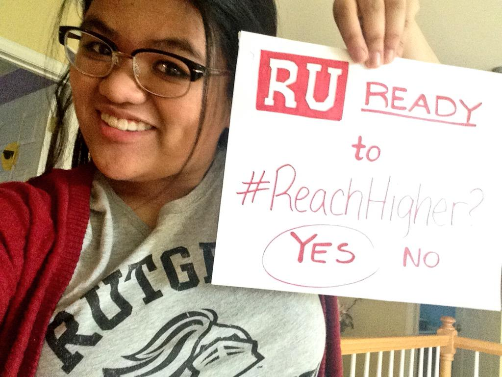 You would not believe how many takes it took to get my shirt and sign in the picture 😄 #Rutgers #ReachHigher http://t.co/w4b41uOpnO