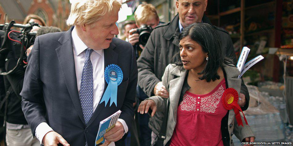 Pint-sized sociology lecturer (Dr Rupa Huq) asks Boris questions ... gets grabbed from behind by both arms: http://t.co/KHayk10npA