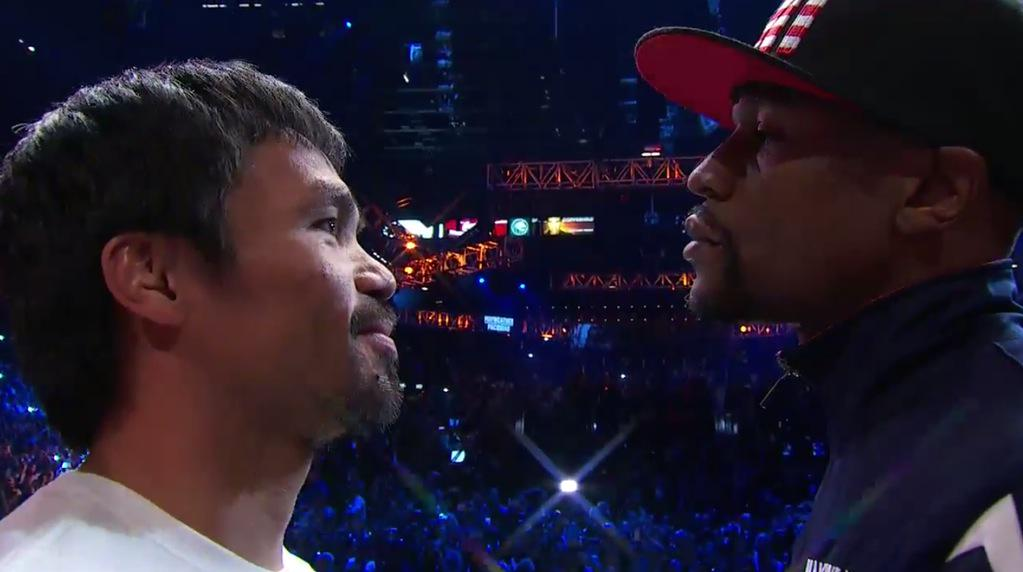 It's on! Both fighters make weight. We got ourselves a fight, ladies and gentlemen. #MayweatherPacquiao http://t.co/i8Ki4L8OG4