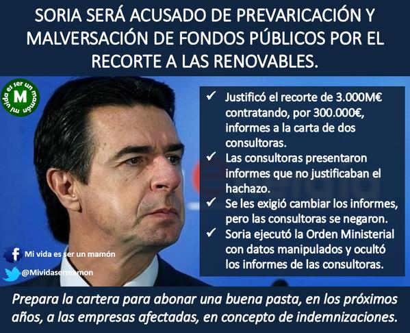 Ministro Soria y sus corruptelas
