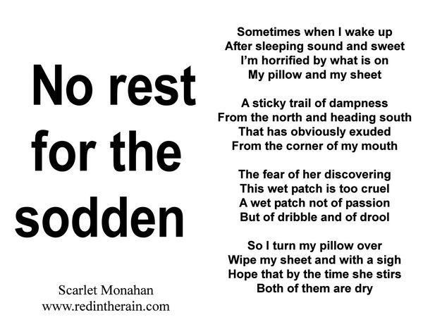 NO REST FOR THE SODDEN https://t.co/kA88q3CUkx #writers #expression #poem #art #spokenword #writers #love #poet #follow