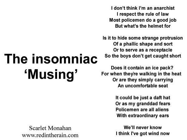 The insomniac 'musing' https://t.co/ExaC7KXaYL #writers #poem #art #spokenword #writers #MUSICIAN