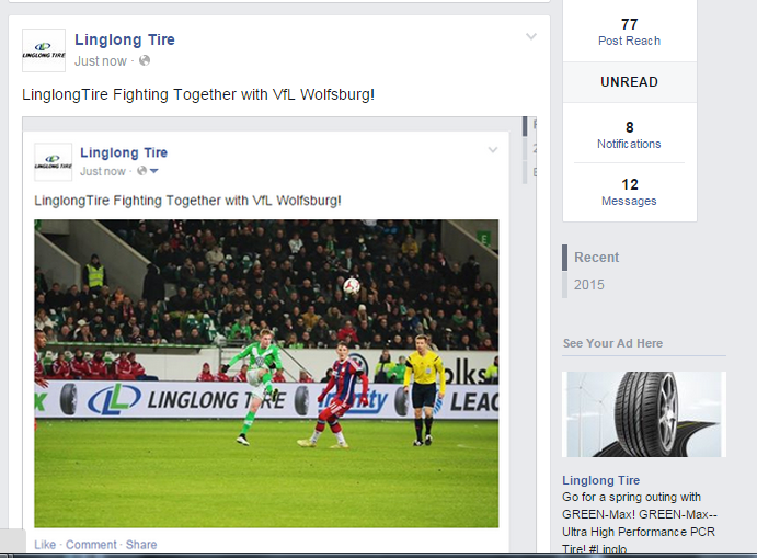 LinglongTire Fighting Together with VfL Wolfsburg! http://t.co/b1NAcqZUD2