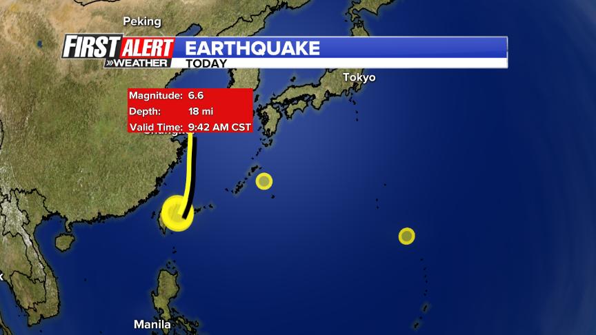 Terremoto Oggi Okinawa M6.6 con allarme tsunami