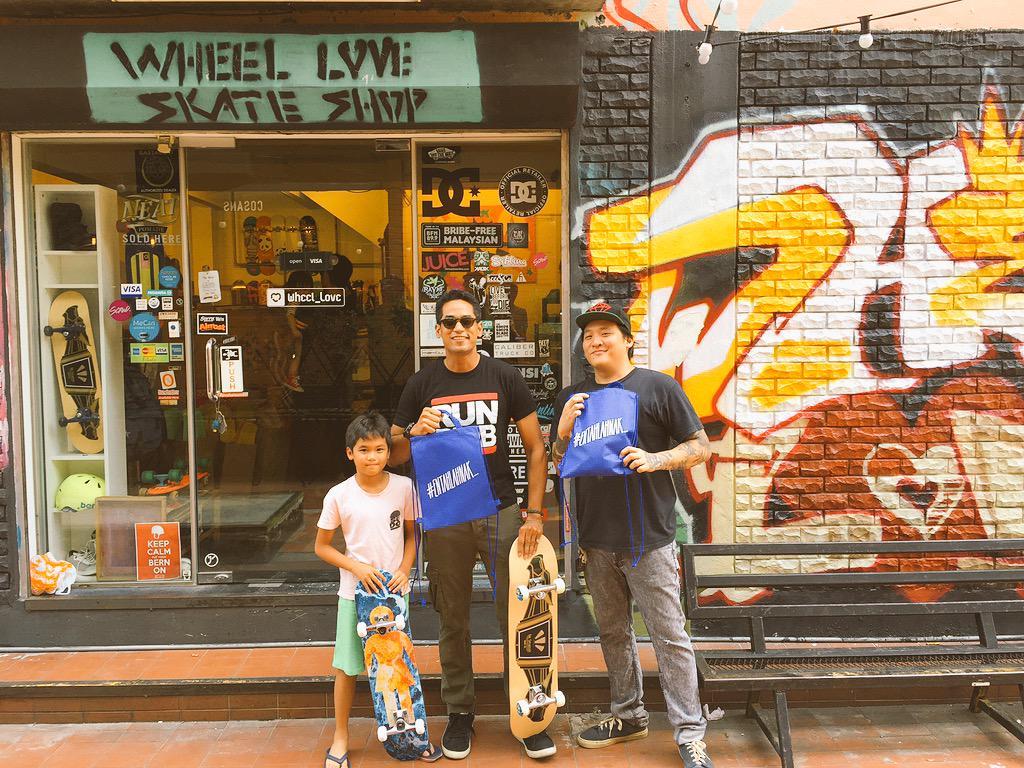@Khairykj and his new @TheSpeakeasyCo skateboard.