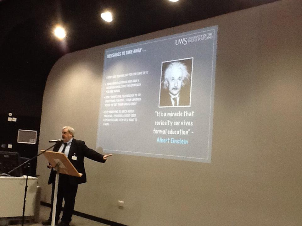 "Great quote ""it's a miracle that curiosity survives formal education"" Einstein #FOLQMU2015 #dsylexiafriendly http://t.co/YFTwx3TjBh"