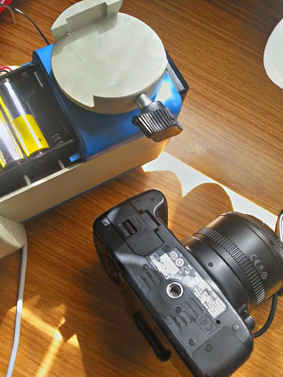 Acople de réflex EOS 450d sobre base para Cola de Milano tipo Vixen CDC5CgiWMAAAu9u