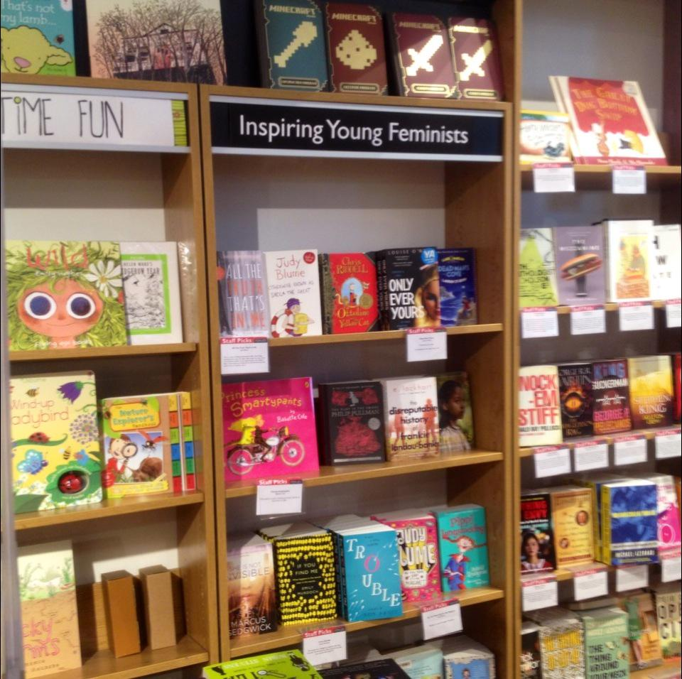This is a pretty cool category for a bookshop to not only have, but also to prominently display. Nice work, Foyles! http://t.co/tGTRLmRbFF