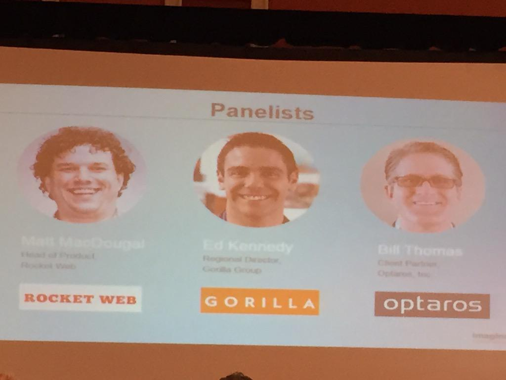 DCKAP: Here are the panelists on the #payments  session #ImagineCommerce http://t.co/ARqtIkHI5t