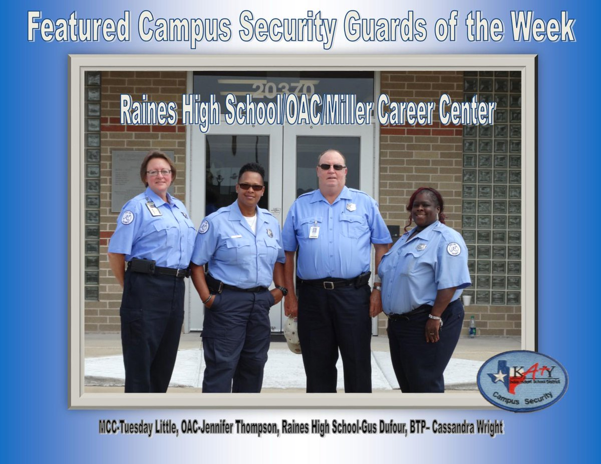 "Katy ISD Police on Twitter: ""Featured Campus Security ... Katy Isd"