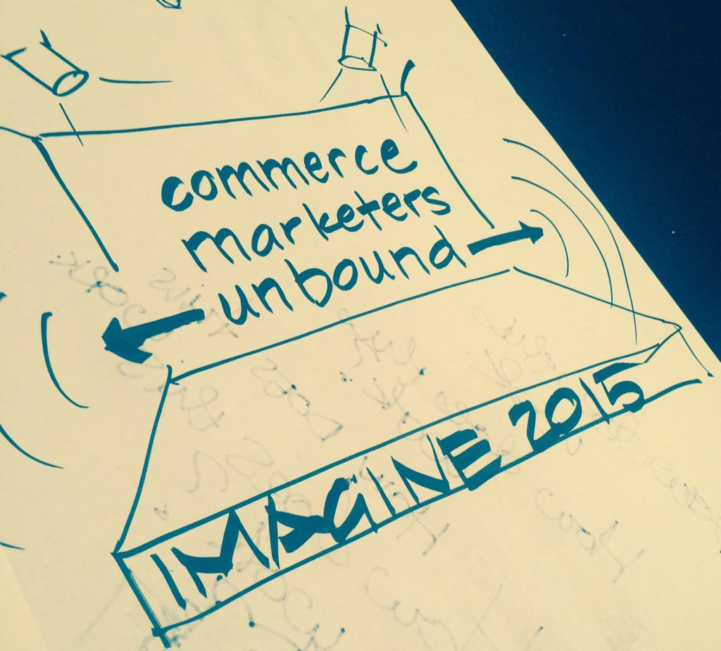 laura_ward: Getting revved up for graphic recording @magento Ecommerce Marketing Unbound #ImagineCommerce http://t.co/R5aTkJQNN9