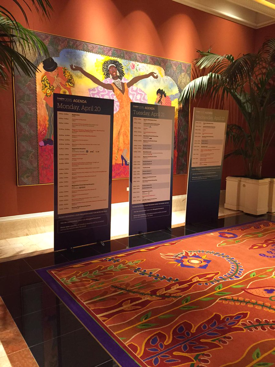 iwebtweets: Day one of #ImagineCommerce has kicked off. A full schedule of events will take place over the next three days. http://t.co/ttGayTNLg8