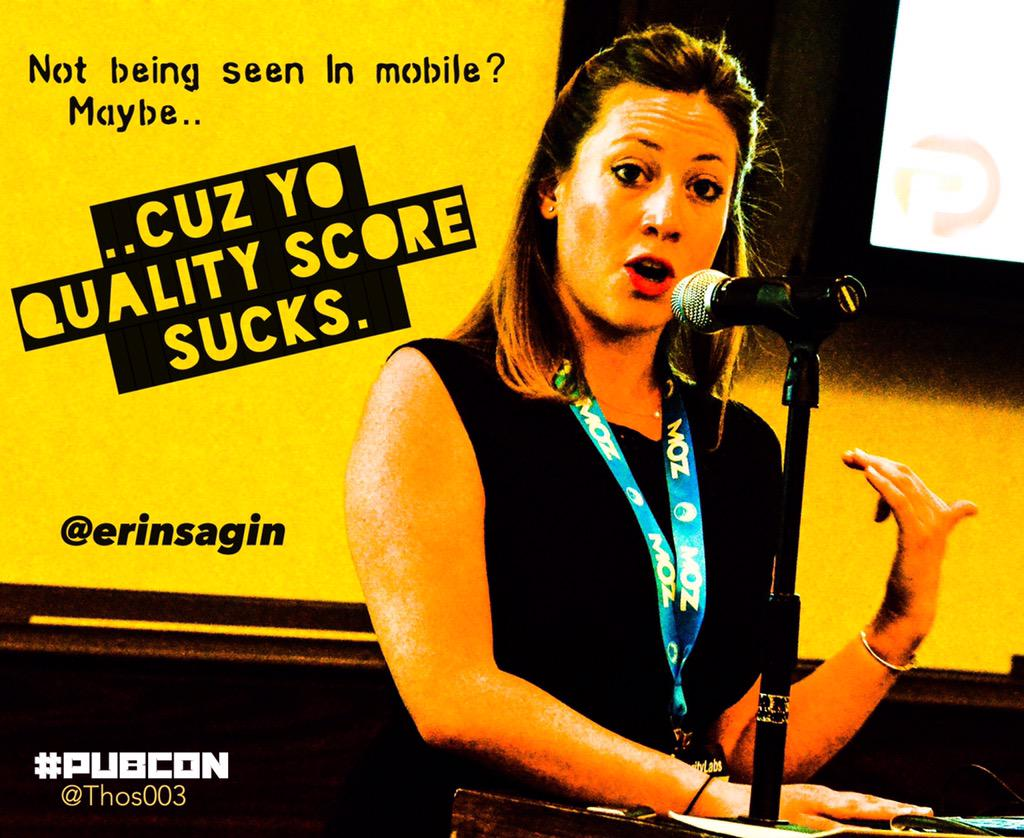 Mobile impression penalty is 2x more dramatic..  @erinsagin #ppc #pubcon http://t.co/u02WxWnKwT