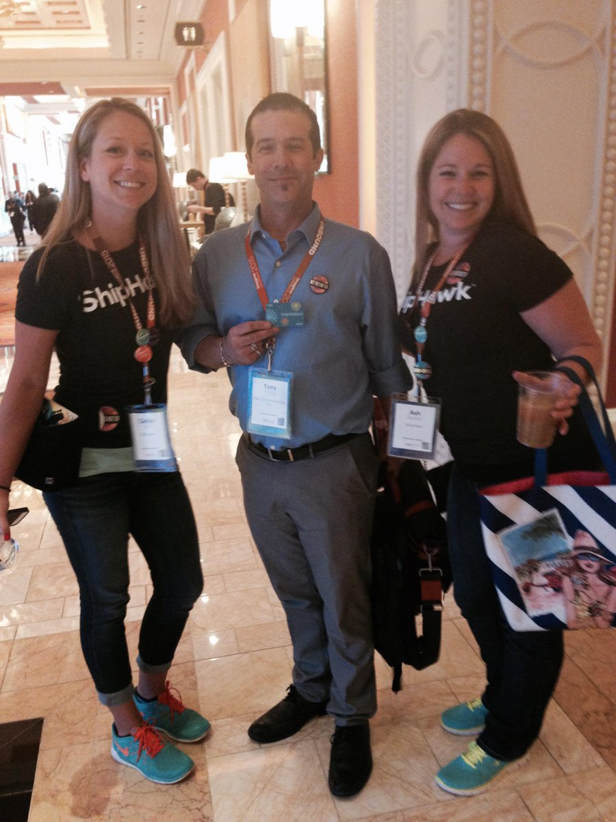 ShipHawk: Our first gift card winner at #ImagineCommerce. Wear your ShipHawk button or sticker for the chance to win up to $500 http://t.co/faQZ9RNG6A