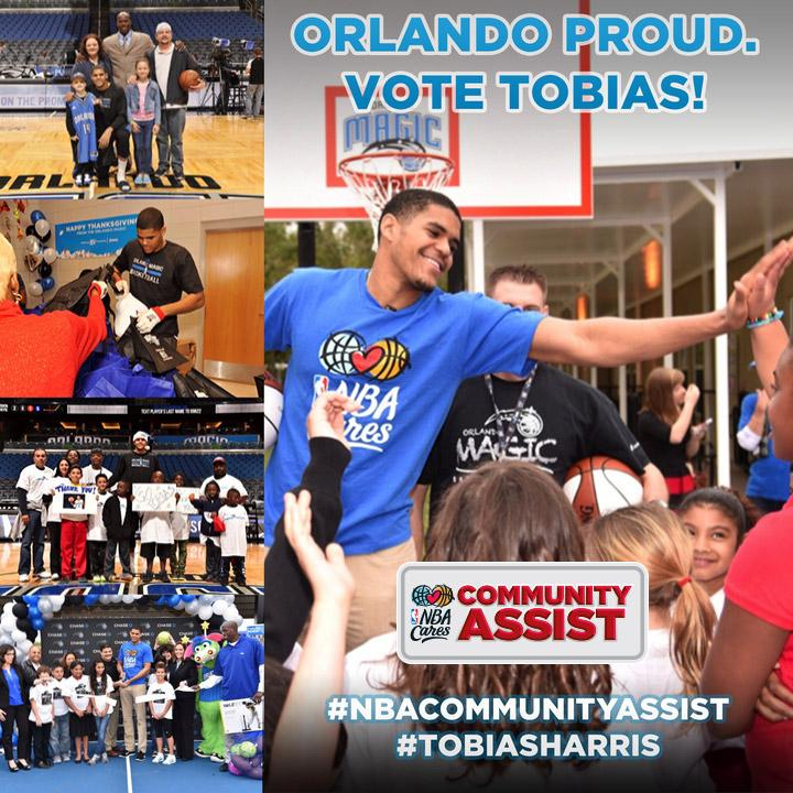 Fans, please retweet this message as a vote and help #TobiasHarris win the #NBACommunityAssist award! http://t.co/GXnRJigmG2
