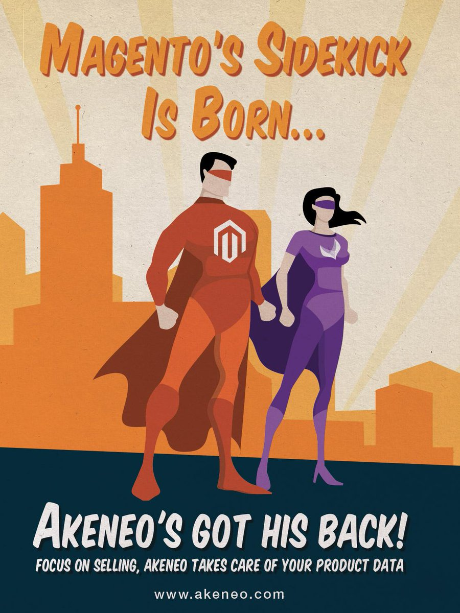 akeneopim: Magento's sidekick is born… Discover Super Julia, alias the PIMGirl, at #Imaginecommerce #akeneopim #magento http://t.co/nnooSlm6iS