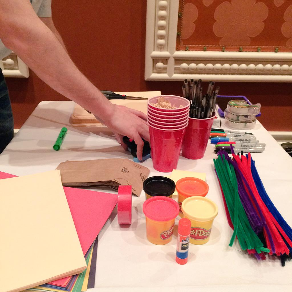 mmiller75: Ready to do some physical prototyping? Rise and shine and smell the Play-Doh! #ImagineCommerce #ImagineCDI @tagsoup http://t.co/KVMkqK92Ww