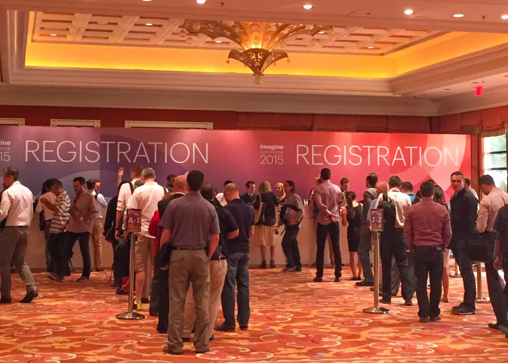 SGPlumb: Let the @magento #ImagineCommerce conference begin! If you're attending, come say hello to @blueacorn at booth 319! http://t.co/duXFvymizw