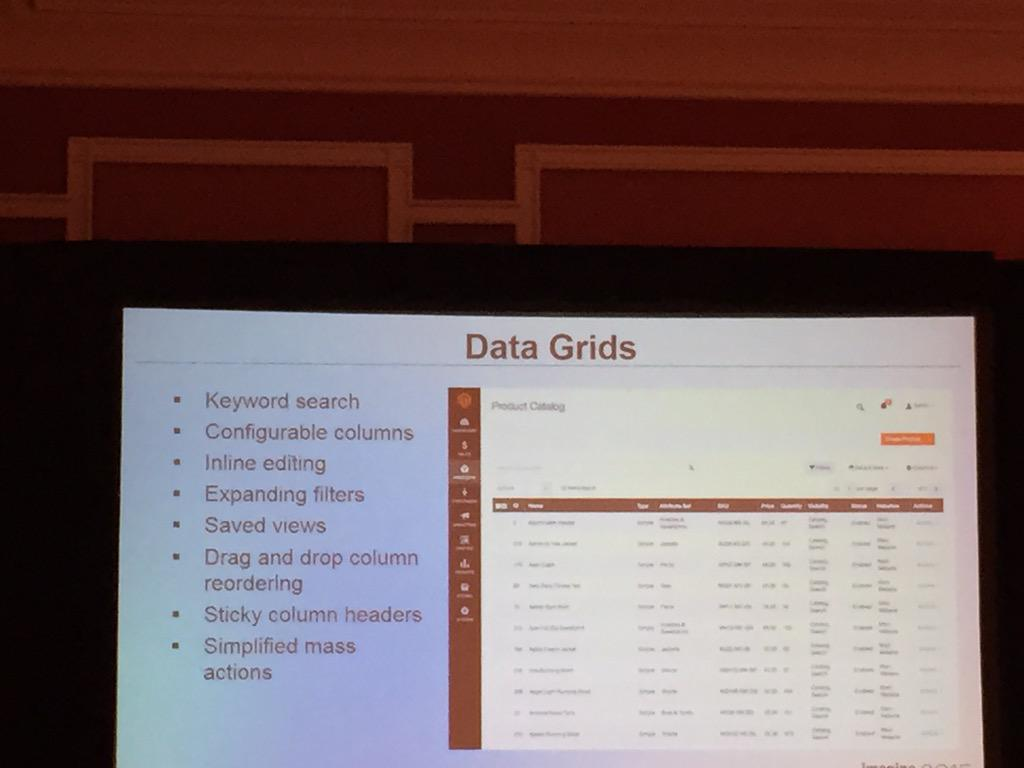 pinofilice: Finally better grids in Magento Admin #imagine2015 #ImagineCommerce http://t.co/yeR088fvmH