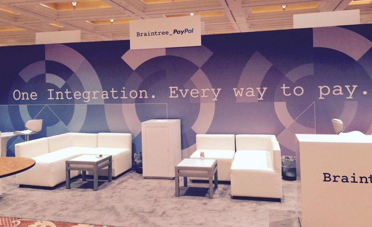 laura_ward: Getting warmed up at the Braintree_PayPal booth for the first day of #ImagineCommerce http://t.co/qPJVf8KtJJ