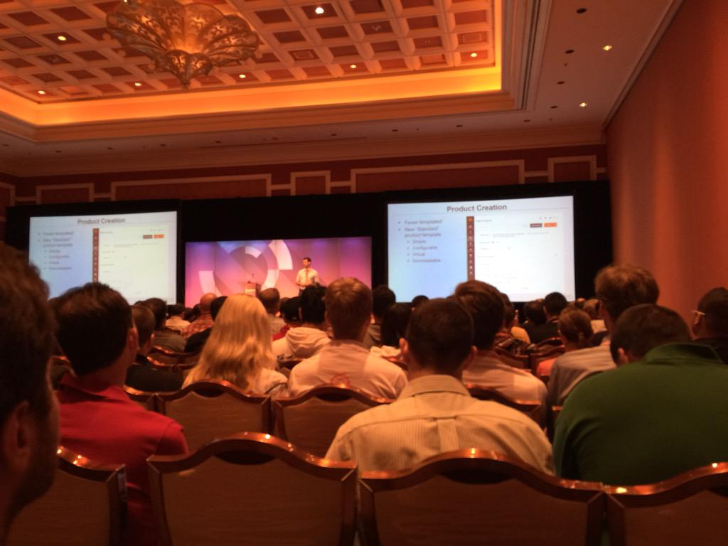 Blue_Bovine: #imaginecommerce Johnathan Atkins highlighting ux changes in m2! http://t.co/MwJ1anrvRc