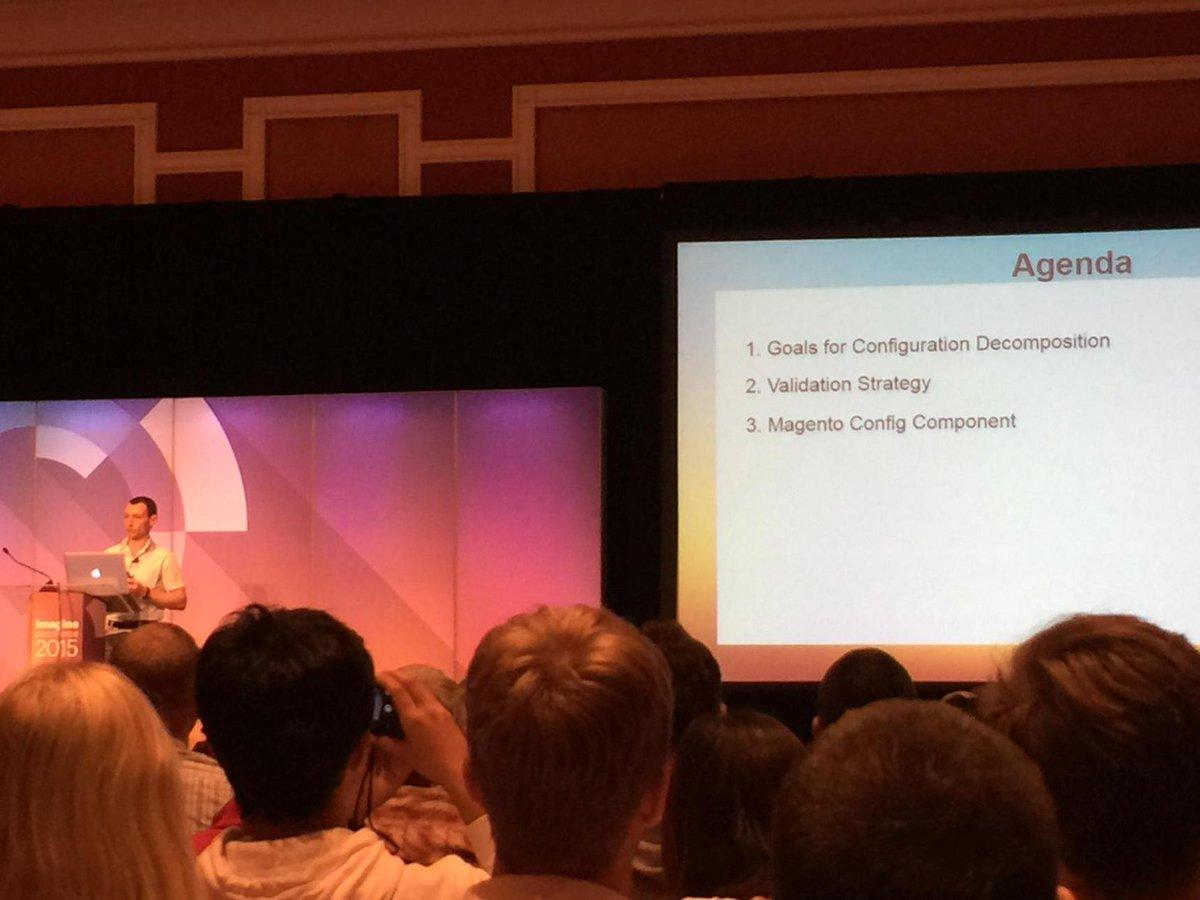 Blue_Bovine: #imaginecommerce - Alexi talking about #magento2 configuration files http://t.co/EDhlZbGbBp