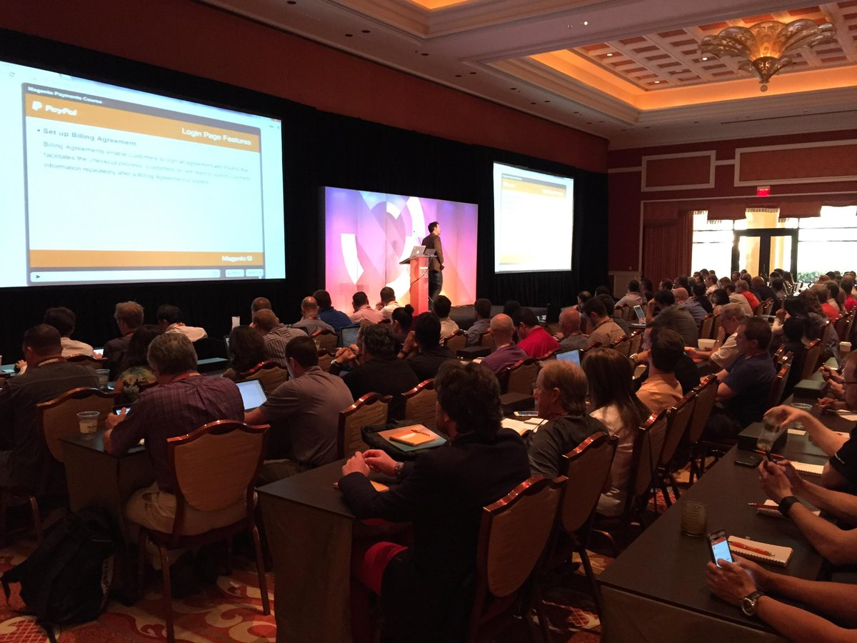 drlrdsen: Currently at @MagentoUTeam presentation with colleagues. Crowded place, obviously lots of merchants @ #MagentoImagine http://t.co/G57gxrfjgr
