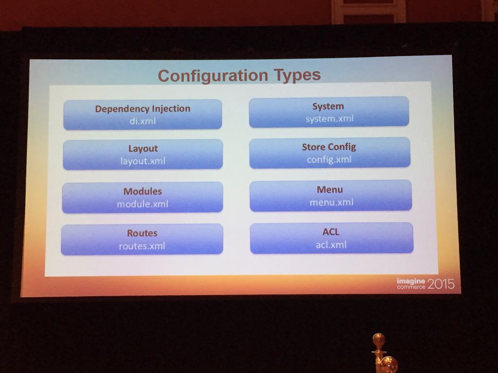 interactiv4: #magento2 all xml configuration files. #imagine2015 http://t.co/pqU2kvJmot