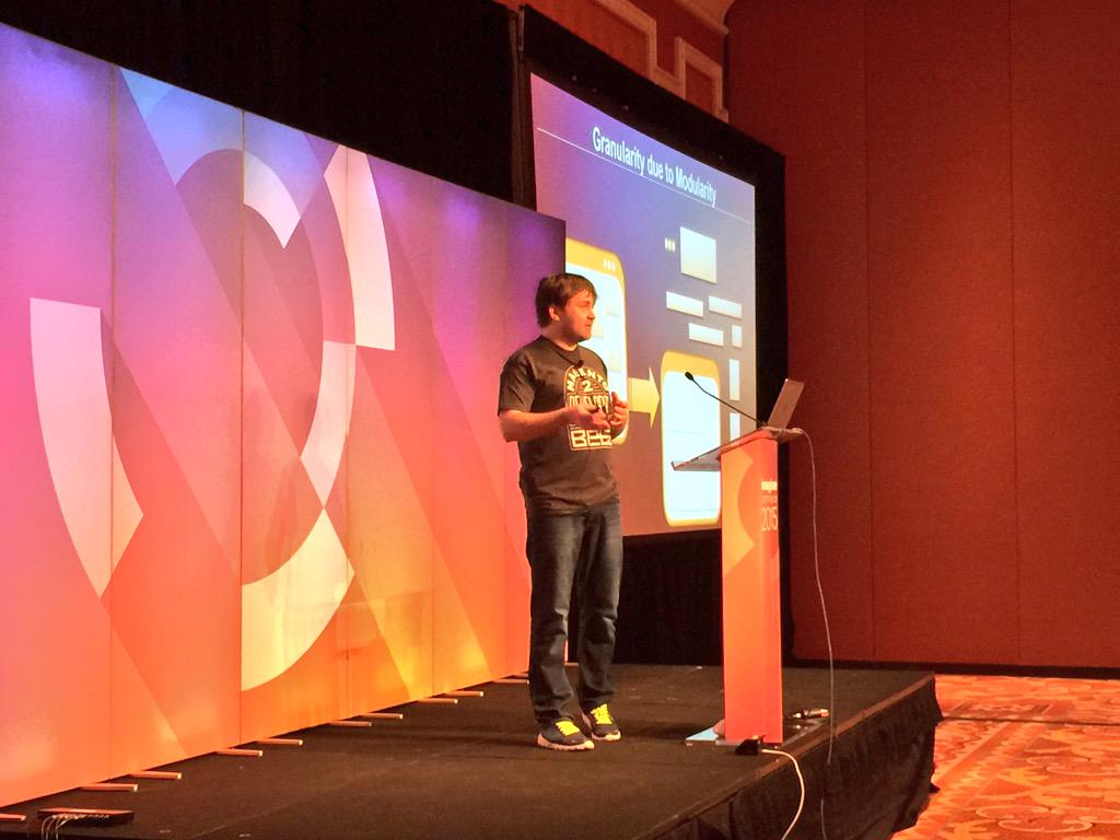 benmarks: The very huggable Vitaliy Korotun is now onstage at the #ImagineCommerce Magento 2 Deep Dive talking theme migration. http://t.co/HFOS3LNRvB
