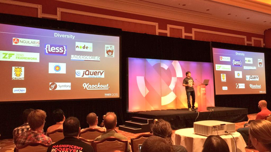 benmarks: 'Magento 2 is now much more open because of #Composer' - Vitaliy K #ImagineCommerce http://t.co/vIoXzHZqlC