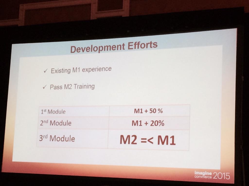 Tbajo: Magento 2 development efforts #hmm #timeWillTell #Magento #MagentoImagine #2015 http://t.co/dzLbLQHNTB