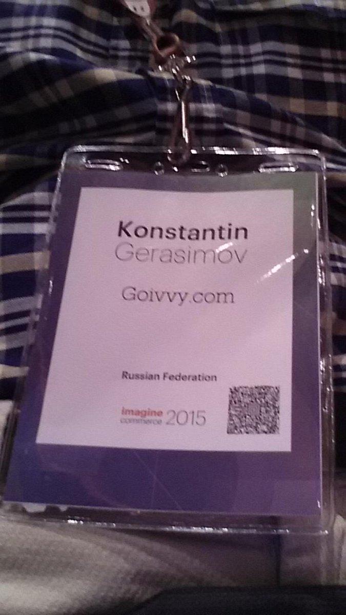 goivvy: #ImagineCommerce day 1 http://t.co/TLufH2fV0c