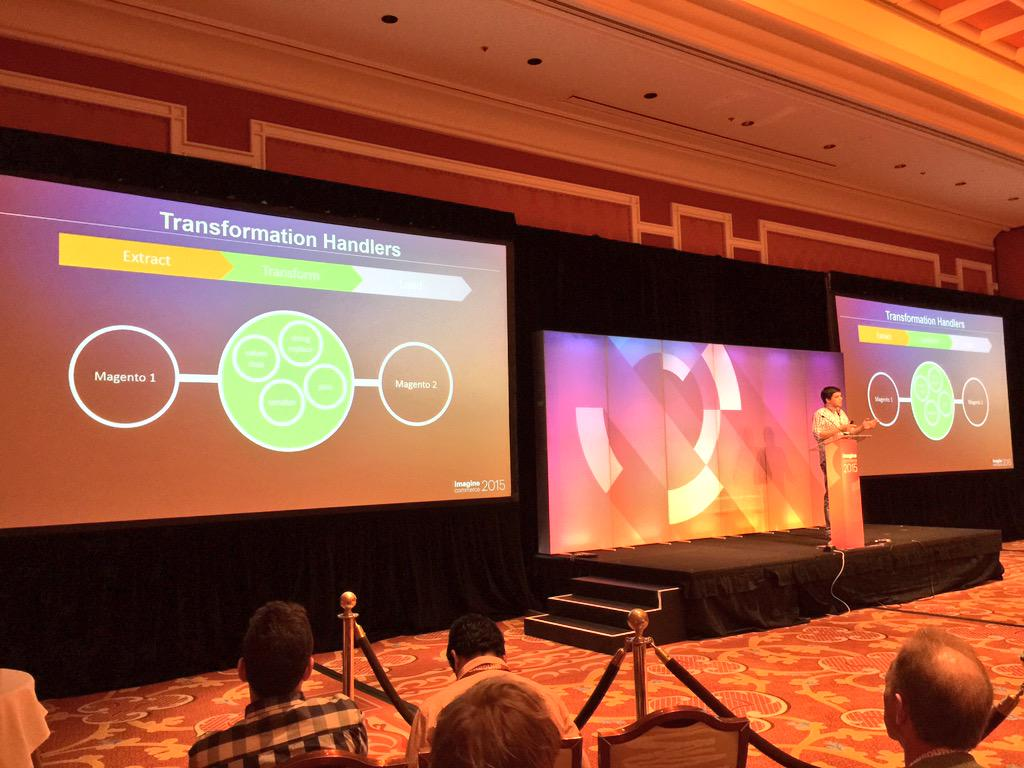 benmarks: Andrew Konosov is talking about data migration tools and workflows at the Magento 2 #ImagineCommerce deep dive. http://t.co/44RL1Qgdd3
