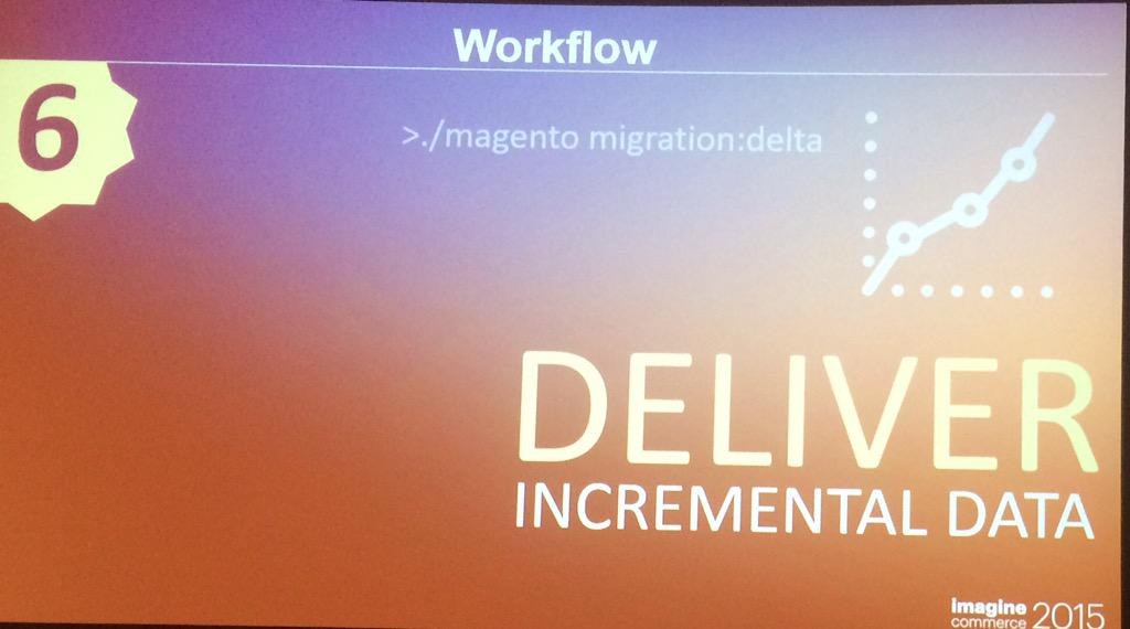 benjaminrobie: Magento2 migration can be done as your store is live because if incremental data delivery. #ImagineCommerce http://t.co/eS51fUM8XH