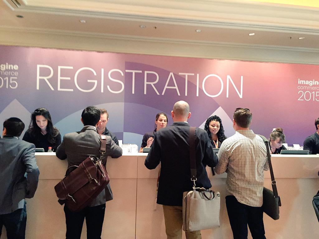 demacmedia: All registered and ready to go! Who's excited for #ImagineCommerce?! We'll be at booth 311. Come talk shop. http://t.co/qkUpNtALbB